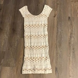 White/cream bodycon dress